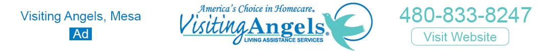 Visiting Angels Mesa Banner Ad Visit Website Phone Number 480-833-8247
